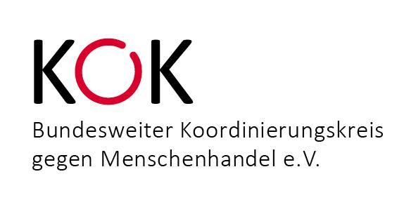 Das ist das Logo von KOK. KOK steht für Bundesweiter Koordinierungskreis gegen Menschenhandel e.V.